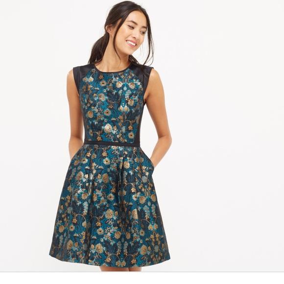 6c6e2ad8e602 Oasis Dresses | Warner Jacquard Skater Dress With Pockets | Poshmark